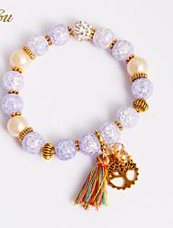 Femme Filles´ Chaînes & Bracelets Charmes pour Bracelets Bracelets de rive Cristal Perle imitée Strass Imitation de diamantNaturel Mode