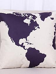 1 pcs Linen Pillow Cover Pillow Case,Textured Nautical Still Life Graphic PrintsCasual Modern/Contemporary Office/Business Outdoor Euro
