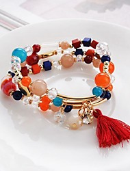 Bracelet Wrap Bracelet Crystal Circle Fashion Anniversary Birthday Gift Jewelry Gift Beige Red Blue,1pc