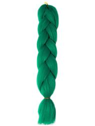 1 Pack Dark Green Jumbo Braids Hair Extensions Kanekalon Hair Braids Crochet 24inch Fiber 100g