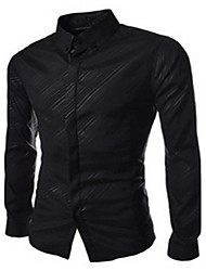 Men's Fashion Solid Color Business Long-Sleeved Shirt