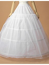 Slips A-Line Slip Ball Gown Slip Floor-length 2 Tulle Netting Polyester White