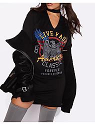 Aliexpress ebay wish explosion modèles eagle print halter robe sexy t-shirt