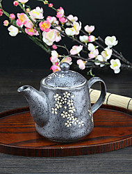 High Temperature Porcelain Tea Pot with Sakura Design