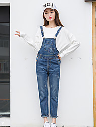 Excellent customer really making 2017 spring new heavy no bombs denim overalls female