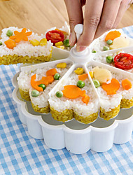 1 Rice Balls Sushi Tool For Cooking Utensils Rice Plastic Creative Kitchen Gadget High Quality Multifunction