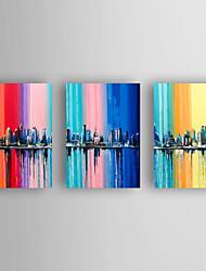 Pintados à mão Vida Imóvel Horizontal,Moderno 3 Painéis Tela Pintura a Óleo For Decoração para casa