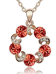 Women's Pendant Necklaces Crystal Round Chrome Statement Jewelry Jewelry For Birthday Thank You Gift 1pc