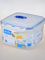 kithenware quadrado forma vacumm recipiente plástico congelador recipiente seguro