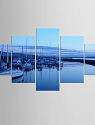 Художественная печать Абстрактные пейзажи Modern Средиземноморье,5 панелей Холст Любая форма Печать Искусство Декор стены For Украшение