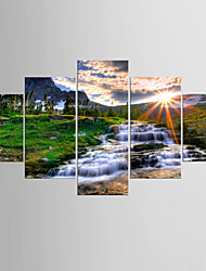 Art Print Landscape Classic Pastoral,Five Panels Canvas Any Shape Print Wall Decor For Home Decoration