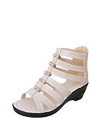Women's Sandals Spring Comfort PU Outdoor Low Heel
