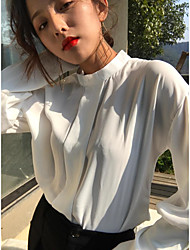 New spring chiffon shirt shirt real shot