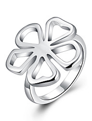 Flower Ring 925 jewelry silver plated ringhigh quality fashion jewelry Nickle freeantiallergic R015