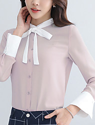 Really making 2017 spring new Korean women long-sleeved chiffon shirt lace shirt