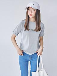 2016 mulheres coreanas nova impressão de ouro fino t-shirt de manga curta de verão verdadeiro tiro
