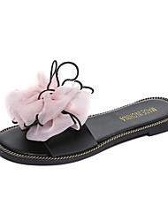 Women's Slippers & Flip-Flops Summer Mary Jane Leatherette Outdoor Casual Flat Heel Bowknot Flower Walking