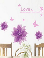Floral Contemporary Window Sticker,PVC/Vinyl Material Window Decoration