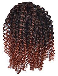 1 Pack 8inch Black Auburn Mix Curly Afro Kinky Mali Bob Braids Hair Extensions Kanekalon Hair Braids 30g (5-6packs/head)