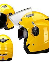 Jiekai motocicleta casco unisex scooter motos casco casco capacete con doble lente