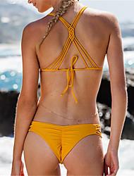 Bikini Da donna Uncinetto Con laccetti Poliestere