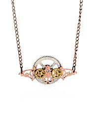 Vintage Animal Pendant Necklace Gear Charm Steampunk Necklace-Bat