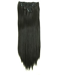 Synthetic Hair 58cm 150g with Clips 16 Clip in Hair Extensions False Hair Hairpieces Synthetic 23inch Long Straight Apply HairpieceD1015 4#
