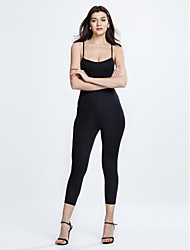 Women's Skinny JumpsuitsCasual/Daily / Club Sexy / Simple Backless Cut Out Bandage Solid Cut Out Strap Sleeveless Mid Rise  Micro-elastic