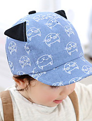 Baby's Cute Cotton Print Cats Peaked Boys/Girls Cap Hats 6-24 Months