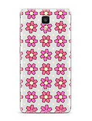 Pour Transparente Motif Coque Coque Arrière Coque Fleur Flexible PUT pour XiaomiXiaomi Mi 5 Xiaomi Mi 4 Xiaomi Mi 5s Xiaomi Mi 5s Plus