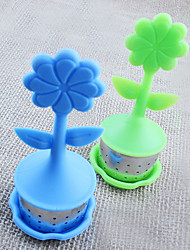Flower Pot shaped Tea Infuser/Tea Strainer/Coffee & Tea Sets/silicone Tea (Random Color)
