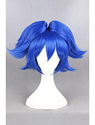 Short blue touken ranbu en ligne sayo samonji synthétique 12inch anime cosplay ponytails perruque cs-231i