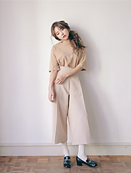 NEW ITEMS Korean fashion personality pressure pleated high waist wide leg pants