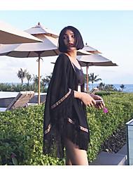 Бахрома шаль побережье лето пункт тонкий пальто пляж солнцезащитная одежда одежда вне поездки солнцезащитный крем шифон летние каникулы