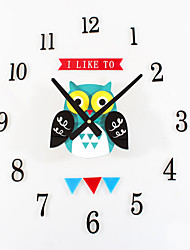 DIY Cute Animal Mute Wall Clocks