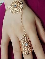 MPL European style fashion diamond flower ring hollow Rhinestone Bracelet