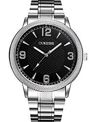 Masculino Relógio Elegante Relógio de Moda Relógio Casual Chinês Quartzo Aço Inoxidável Banda Legal Casual Prata Branco Preto Azul