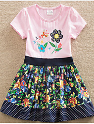 Girl's Going out Casual/Daily Floral Dress,Cotton Summer