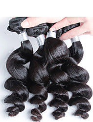 4 pcs/ lot Top Quality Peruvian Human Hair Free Shipping, Top Grade Virgin Peruvian Loose Wave Hair