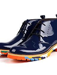 Masculino-Botas-Conforto-Rasteiro-Azul Escuro-Borracha-Casual