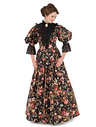 Steampunk®Marie Antoinette Masquerade Victorian Queen Prom Dress Printing Victorian Ensemble Gown