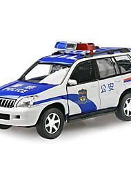 Carro de Polícia Carrinhos de Fricção 01:32 Metal