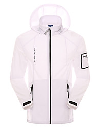 Men's Hiking Jacket Quick Dry Windproof Ultraviolet Resistant Dust Proof Wearable Breathable Jacket Tops for Camping / Hiking Fishing