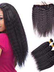 Um Pacote de Solução Cabelo Brasileiro 12 meses 5 Peças tece cabelo