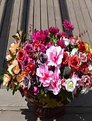 1 Une succursale Plastique Azalée Fleur de Table Fleurs artificielles 20*20*30