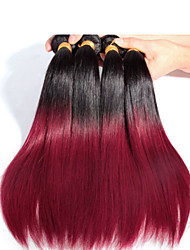 3 Pcs/Lot Wholesales Straight Ombre Hair Weaves Color 1B/530# , Soft and Tangle Free Brazilian Hair Ombre Hair Extension
