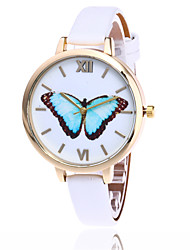Fashion Butterfly Watch Casual Leather Women Quartz Wrist Watch Gift Clock Relogio Feminino