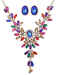 May Polly  Gem Diamond Earrings Necklace exaggerated fashion banquet set