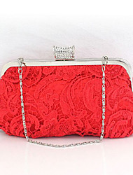 L.WEST Women's fashion silk flower hollowed Dinner Bag