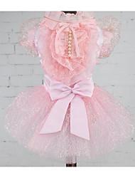 Chien Robe Vêtements pour Chien Eté Marin Mignon Mode Décontracté / Quotidien Jaune Bleu Rose